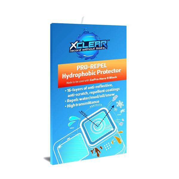 xclear PRO-REPEL Hydrophobic Protector für HERO9 & 10 Black