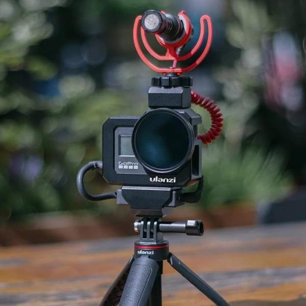 Ulanzi G8-5 Vlog Metal Cage inkl Mic Adapter-Halter für HERO8 Black