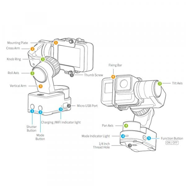 Feiyu-Tech WG2X Wearable Gimbal