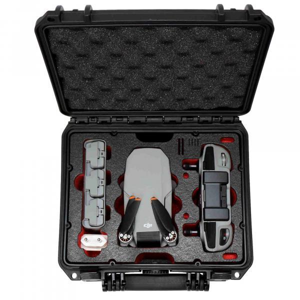 TOMcase Kompakt Plus XT235 schwarz Inlay schwarz/rot für Mini 2