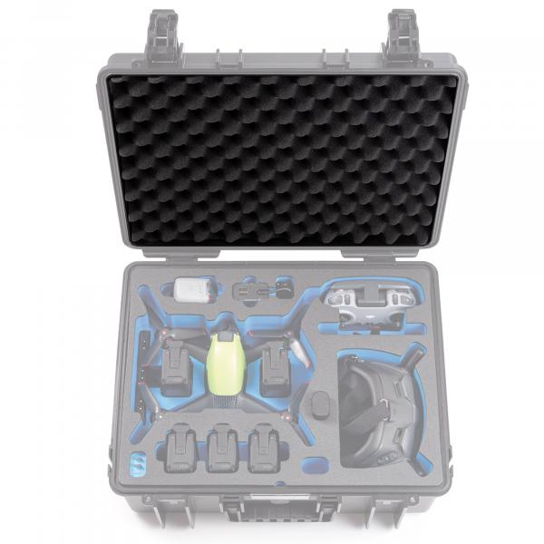 B&W Case 6000 Deckelschaum für DJI FPV Combo