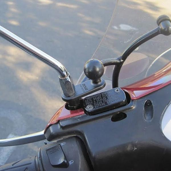 RAM Mounts Motorrad-Basisbefestigung mit 11 mm Bohrung - B-Kugel RAM-B-252U