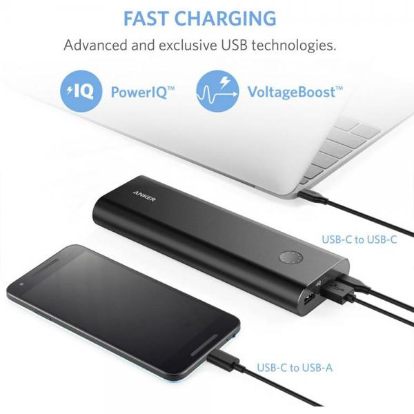 Anker PowerCore+ 20100 Powerbank USB-C Black