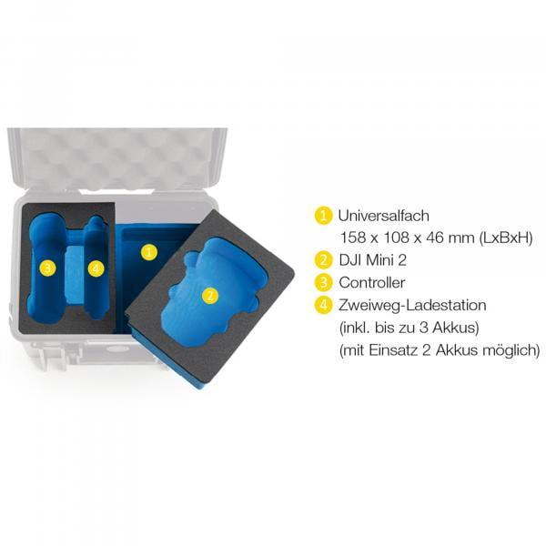 B&W Case 2000 Einsatz für DJI Mini 2 Fly More Combo