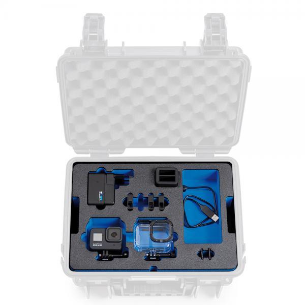 B&W Case 3000 Custom Einsatz für HERO8 Black