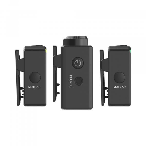 Hollyland Lark 150 (2:1) schwarz - Drahtloses Mikrofon mit 2 Transmitter